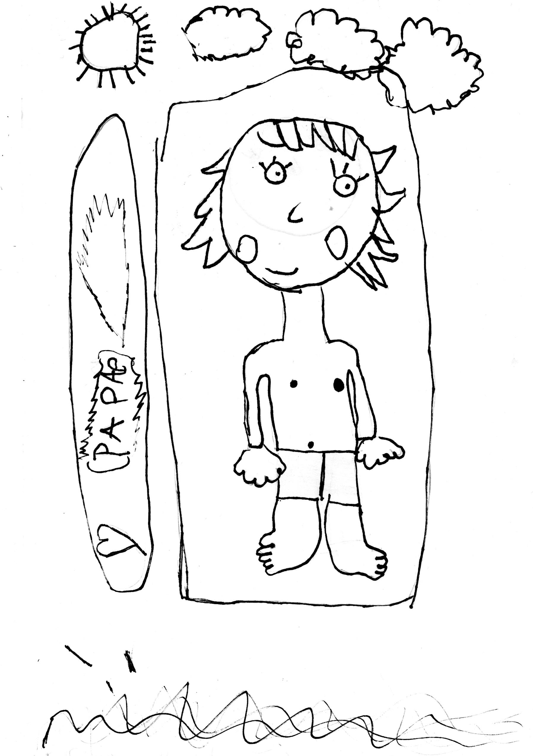 un dessin de papa sublimé par madame pop and kids cadeau dedans