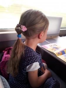Chouquette dans le train