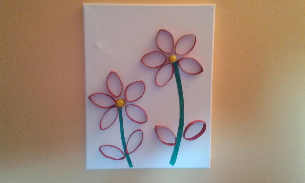 activit pour les enfants tableau fleurs avec des. Black Bedroom Furniture Sets. Home Design Ideas