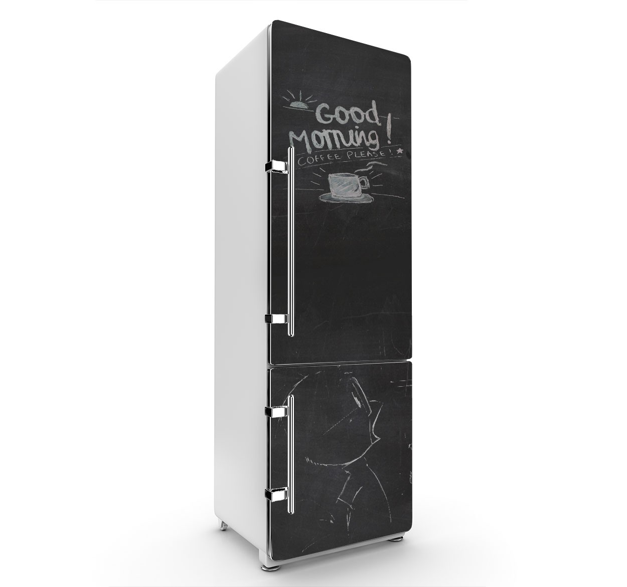 customiser son frigo avec un sticker ardoise femin 39 elles. Black Bedroom Furniture Sets. Home Design Ideas